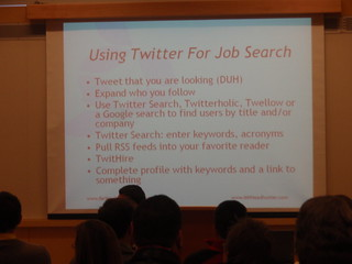Using Twitter For Job Search