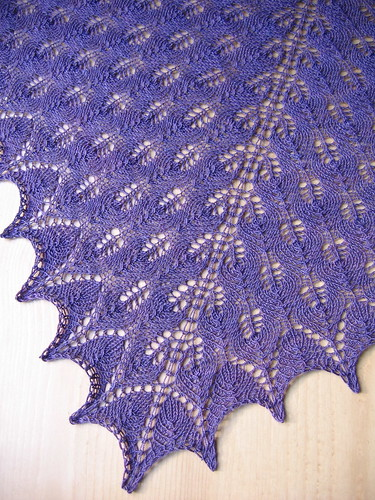 Shetland Triangle Lace Shawl | by evelyndesigns