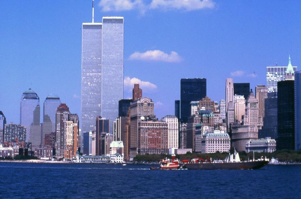 1995 8 New York Grattaceli Dal Staten Island Ferry Con Le