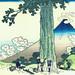 Ukiyo-e Hokusai Mishima Pass