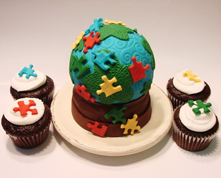 Autism cakelet with cupcakes | by cupcakeenvy