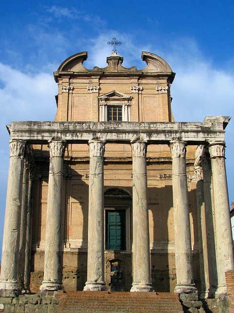 Temple Of Antoninus And Faustina In 141 Ad The Wife Of