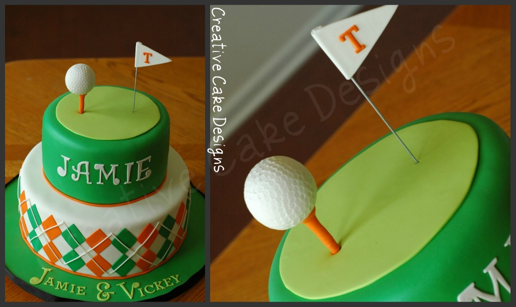 Golf themed groom s cake. Completely edible and covered ...
