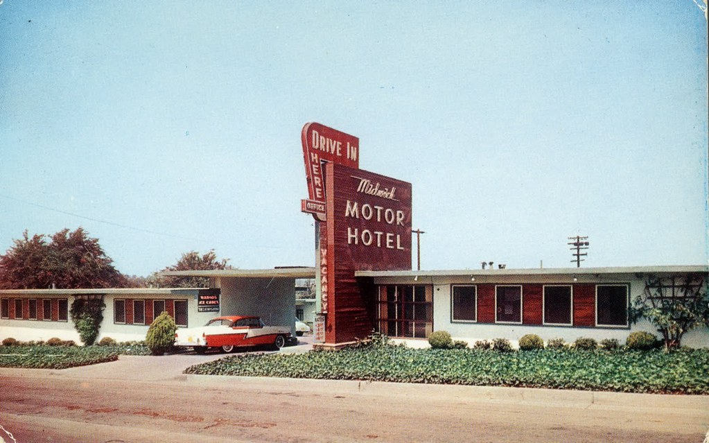 1950s drive in motor hotel railroad jack flickr for Motor hotel los angeles