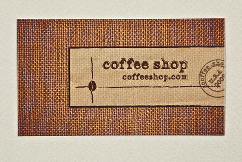Coffee Shop Business Cards Design Coffee Shop Business Card | by