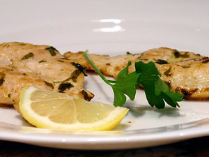 Chicken Scaloppine with Green Beans