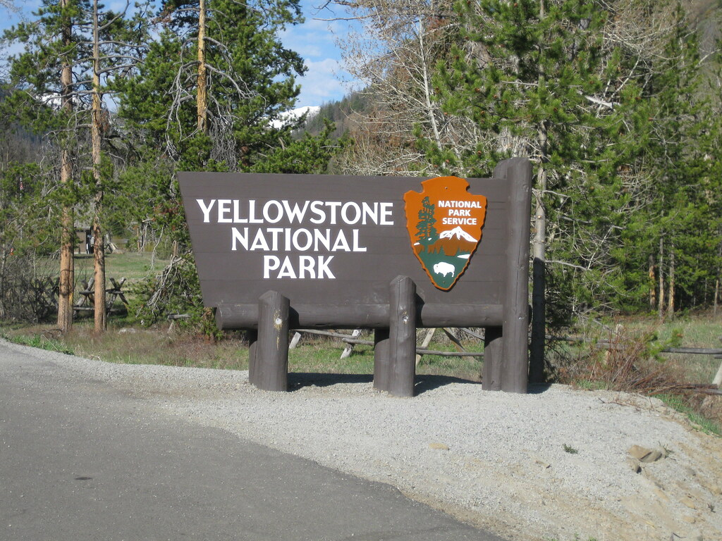 Yellowstone National Park East Entrance Sign Richie