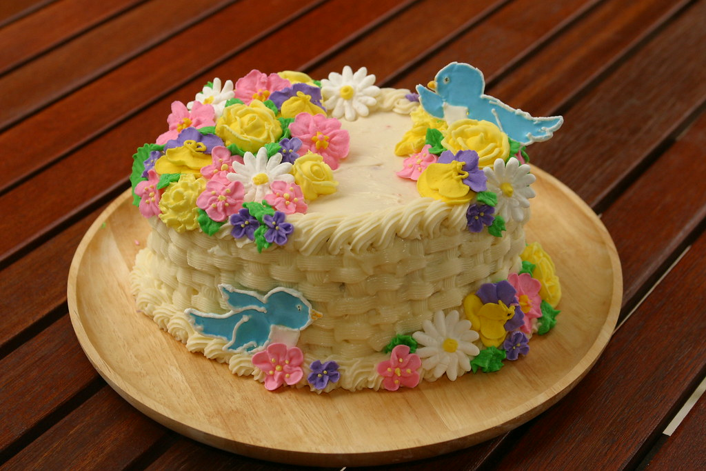 Basket Of Flowers Cake Images
