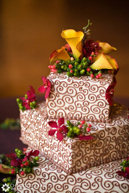 square wedding cakes with fall flowers square wedding cake with autumn flowers wedding planning 20419