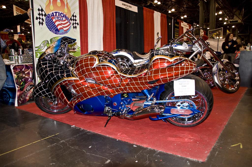 Spiderman hayabusa ny motorcycle expo 39 09 ag flickr - Spider man moto ...