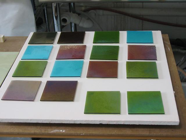 Iridescent Glass Tile Kitchen Backsplash