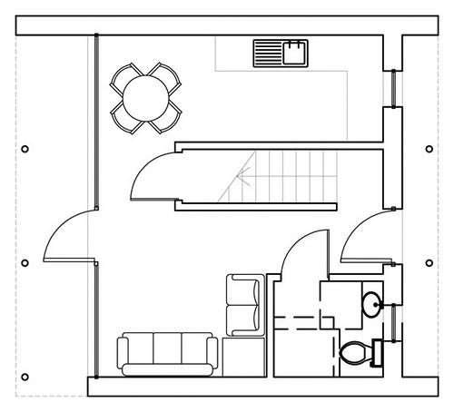 garage conversion ground floor this garage conversion was flickr. Black Bedroom Furniture Sets. Home Design Ideas