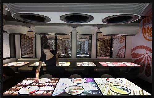 Inamo Restaurant Soho London Pioneers Interactive Tablet