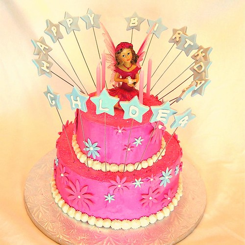 Images Of Cake For Girl Birthday : Pink Fairy Birthday Cake (Girl) This cake was for a ...