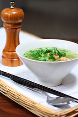 a steamy bowl of calabash shrimp soup | by van_pham