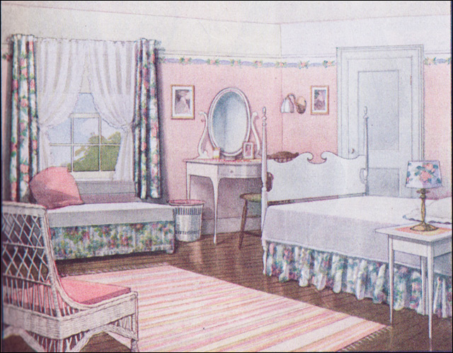 pink vintage bedroom 1916 pink summer bedroom source home journal 12891