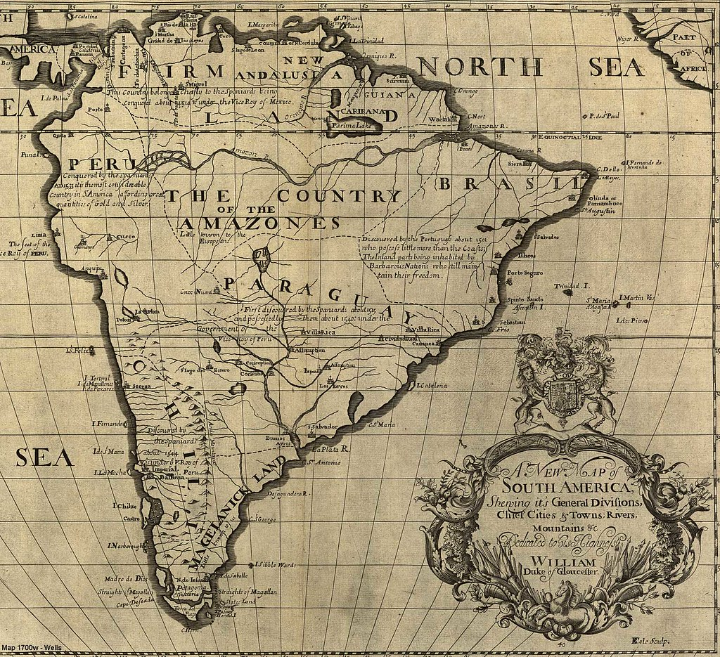 106 Mapa antiguo Am rica del Sur South America old map Flickr