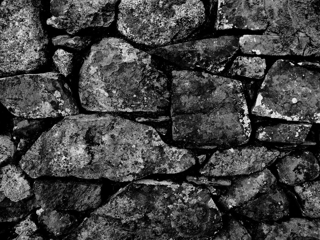 Rubble Stone Wall : Random rubble stone wall a close up of the