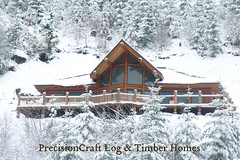 A PrecisionCraft Custom Log Home | Located in Washington | Exterior View | by PrecisionCraft Log & Timber Homes