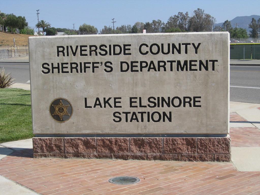 Lake Elsinore Sheriff Station Sign   Lake Elsinore ...
