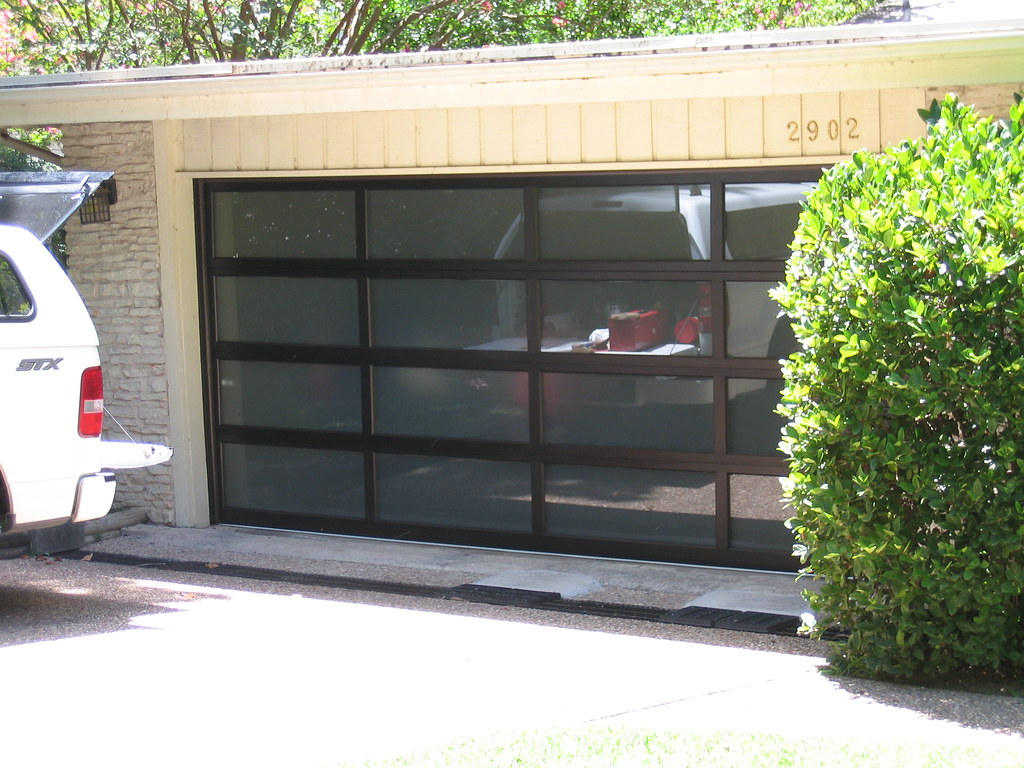 Aluminum glass garage door company glass garage doors in for 16x7 garage door prices