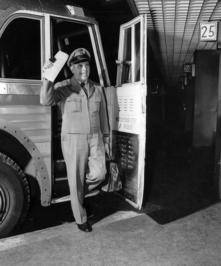 greyhound driver early 1960s