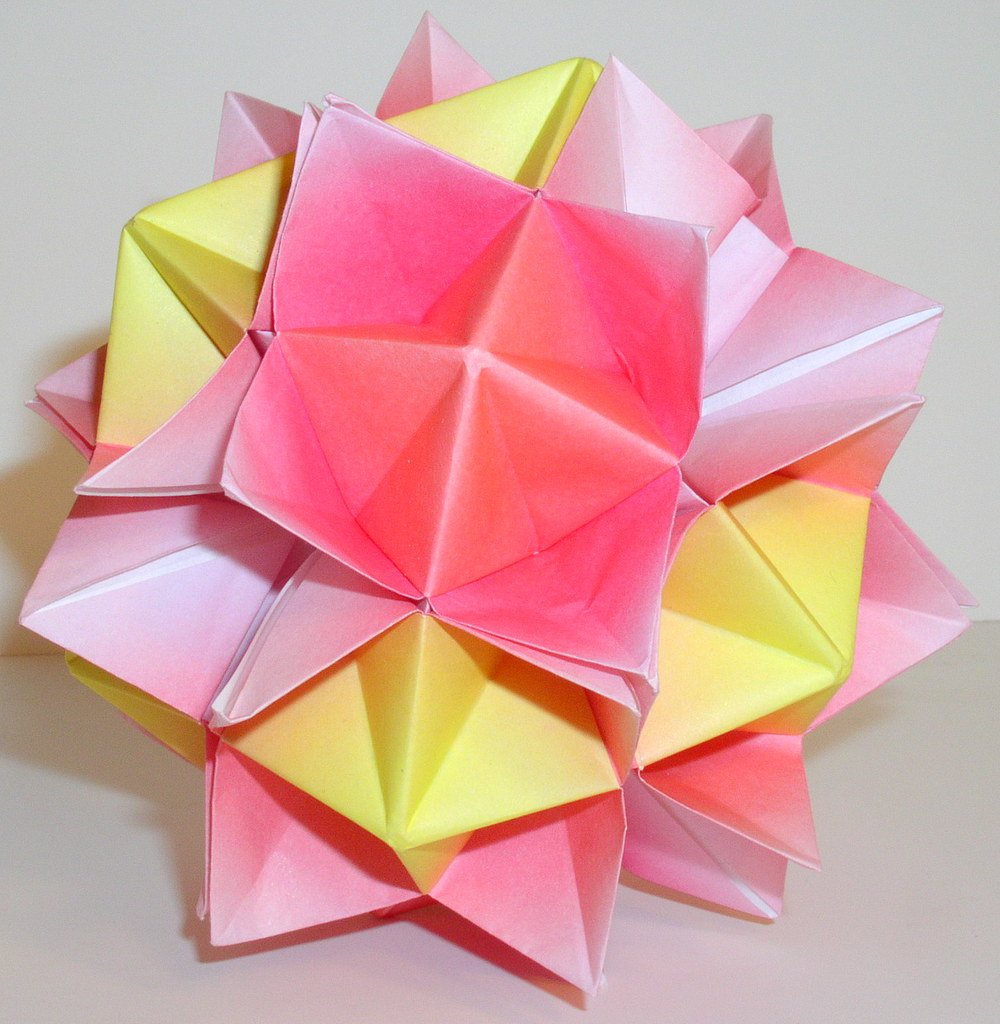 rona gurkewitz super spike ball modular origami flickr. Black Bedroom Furniture Sets. Home Design Ideas