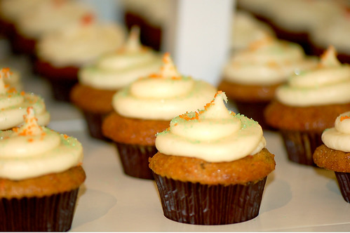 Photo c/o K. Morales, Carrot Cupcakes from Trophy Cupcakes | by cakespy
