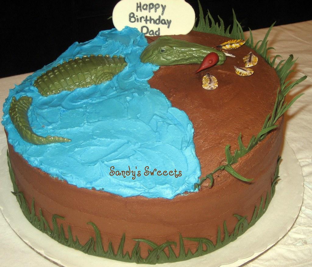 Gator Birthday Cake Chocolate Birthday Cake For A Man