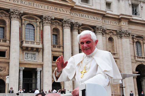 Pope Benedict following his Audience | by Jess Pac