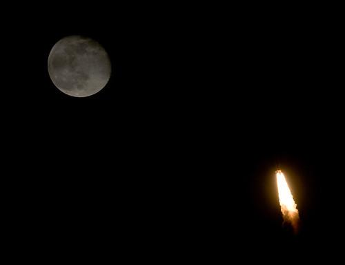 last space shuttle moon - photo #41