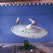 Mid Distance Shot of Enterprise Model in Studio