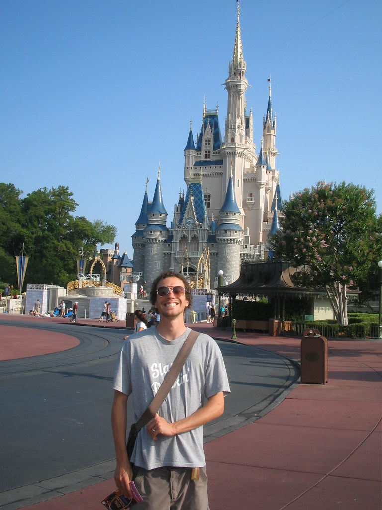 Me, the Magic Kingdom and sunshine at 9 in the morning
