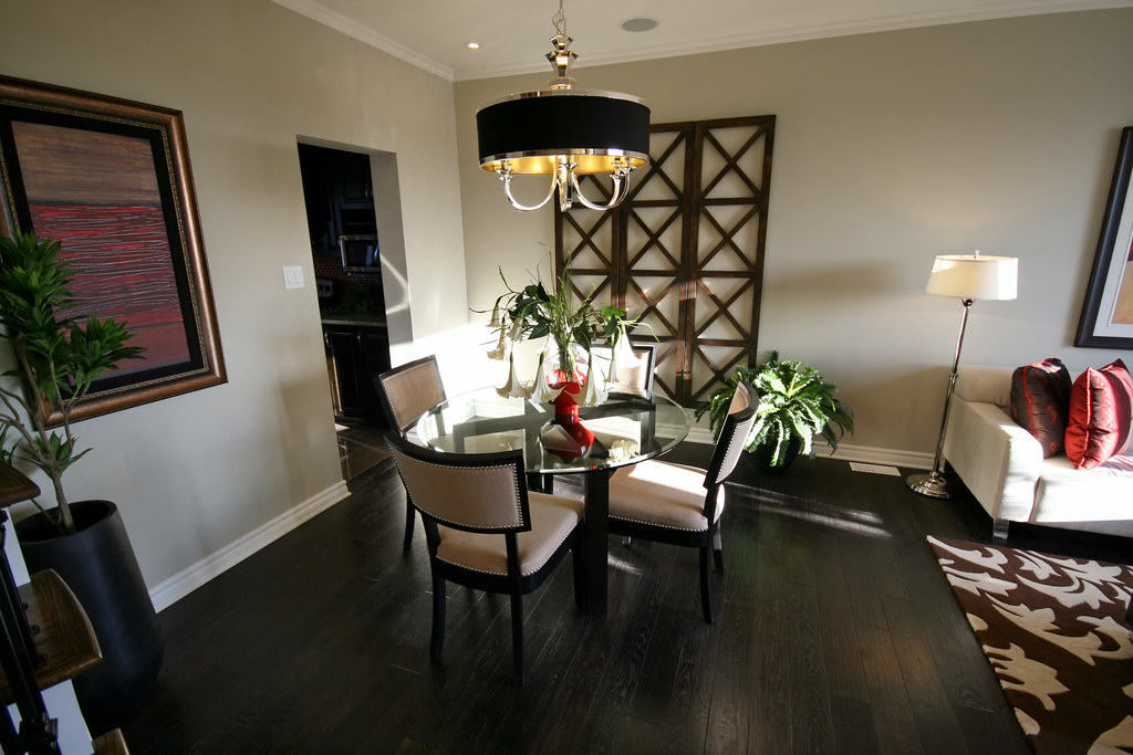 Dining Room Chocolate Color Design Wall Paint