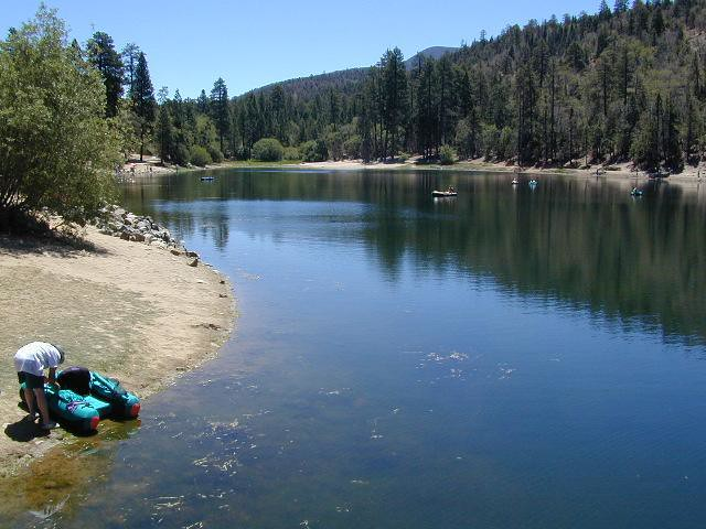 Jenks lake near big bear this photo is for all the for Lake fishing near los angeles
