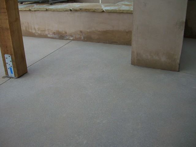 Day 29 acid washed concrete flickr photo sharing for Acid wash concrete patio
