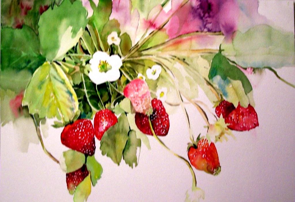 Strawberry Season Watercolor Strawberry Season