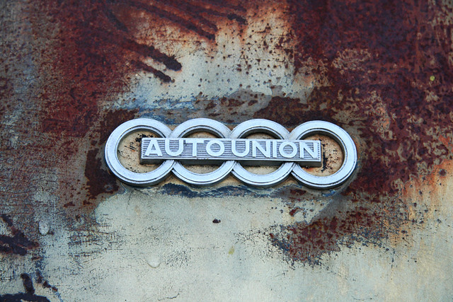Auto Union Deutschland Ingolstadt Weathered Audi Emblem Flickr