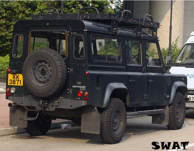 hong kong police force land rover 110 swat