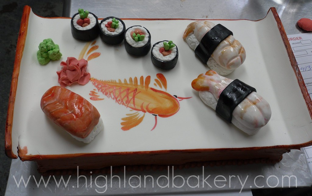 Sushi Cake Birthday cake for a sushi lover Karen ...