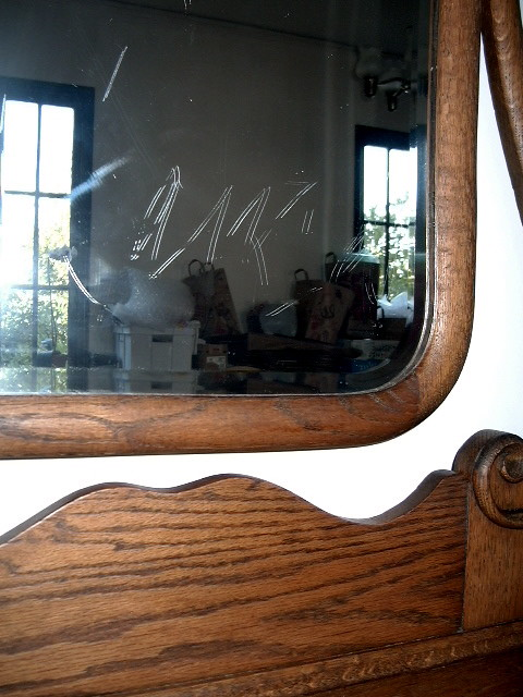 Early 1900s Antique Oak Dresser With Mirror 240 This Is