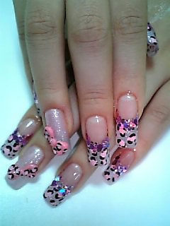 ★Pink Leopard Nails with bows★ | by Pinky Anela