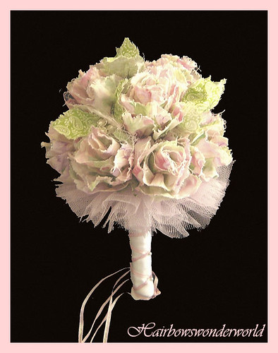 Shabby chic bridal bouquet flickr photo sharing for Bouquet chic