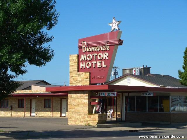Bismarck Motor Hotel Vintage 1950s Sign Bismarck North