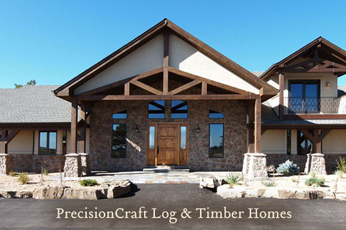 Timber Frame Home Exterior Front View Custom Timber Fram