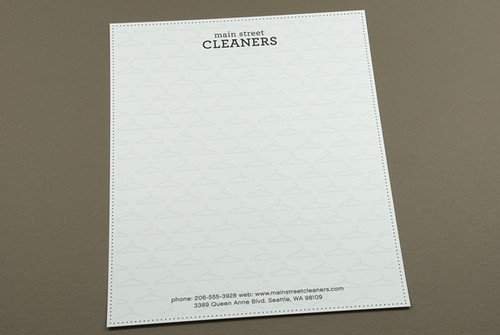 Dry Cleaners Letterhead design template by Jesse Overlin.Showcased on ...