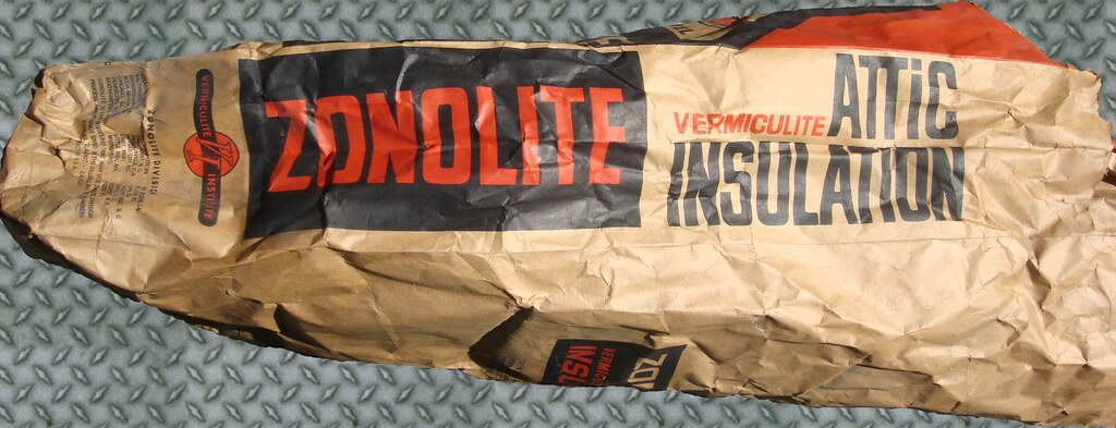 Zonolite Vermiculite Bag Side View Used Empty Bag