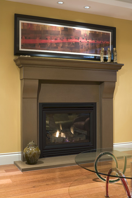 Cornice Truffle Cast Concrete Fireplace Mantel Photo By R Flickr