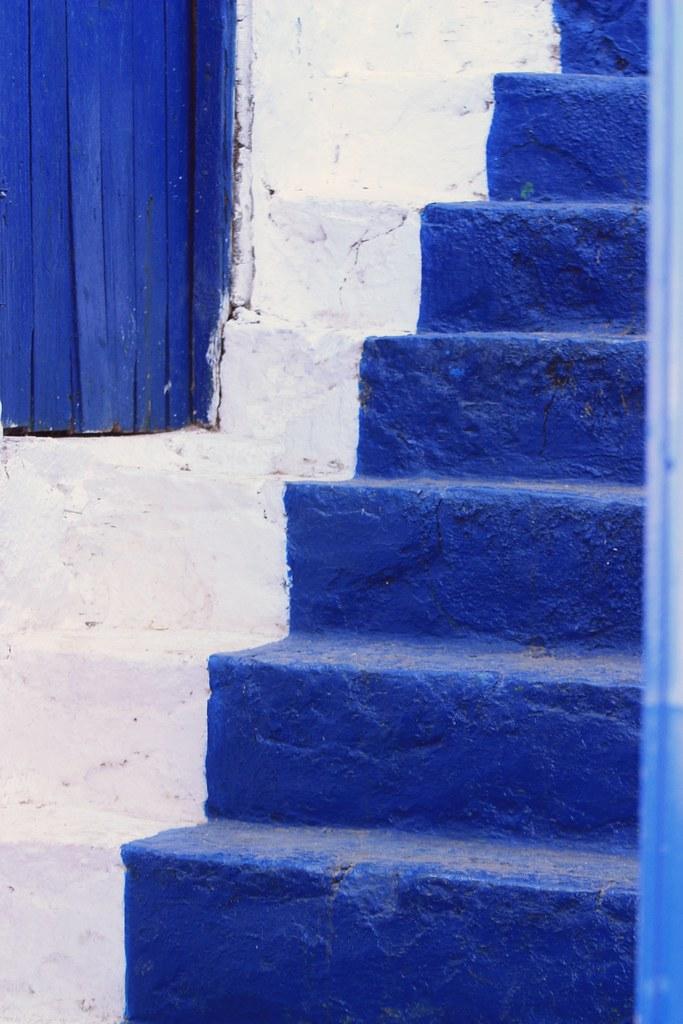 Blue Steps To Success: Blue Steps, Hydra Town, Hydra Island