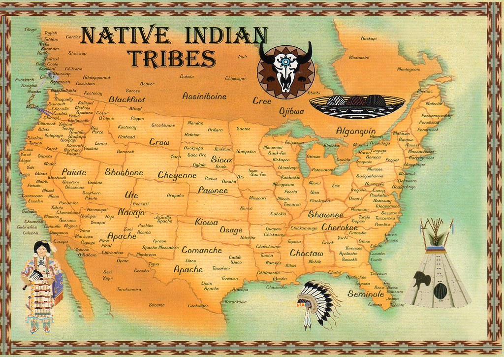 USA Native Indian Tribes Map Available Special Trade Flickr - Map us indian nations
